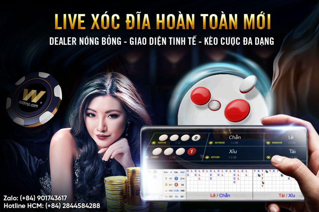 [W88] TRẢI NGHIỆM LIVE XÓC ĐĨA HOÀN TOÀN MỚI CÙNG NHỮNG DEALER SEXY : W88 THÔNG TIN