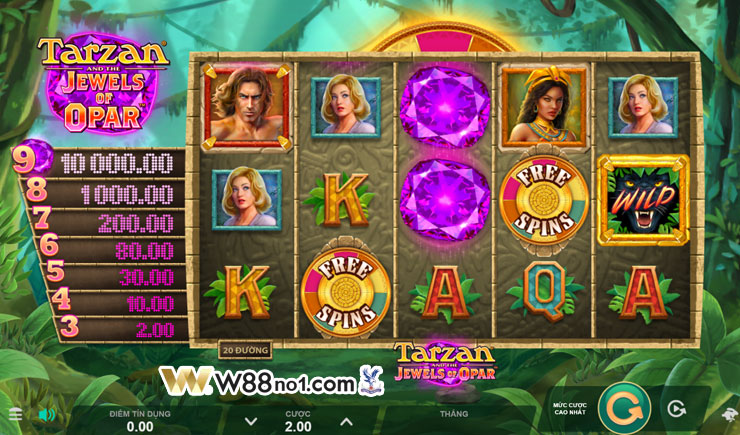 Khám phá cách chơi Tarzan and the Jewels of Opar tại W88