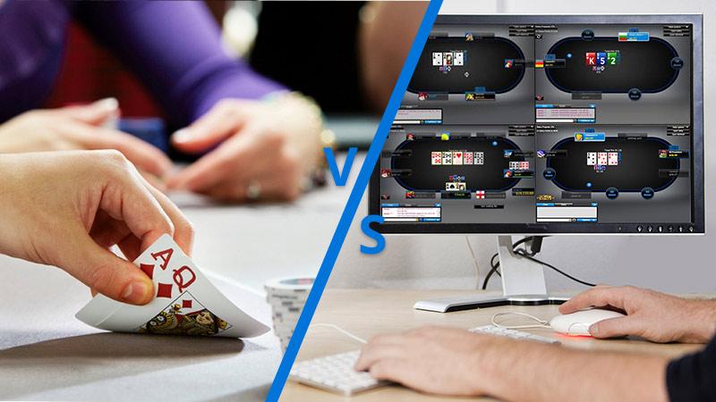 Nên chơi poker live hay poker online? Cái nào dễ kiếm tiền hơn?