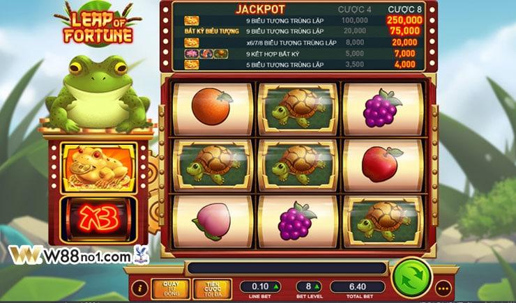 Hướng dẫn cách chơi Leap Of Fortune Slot tại W88